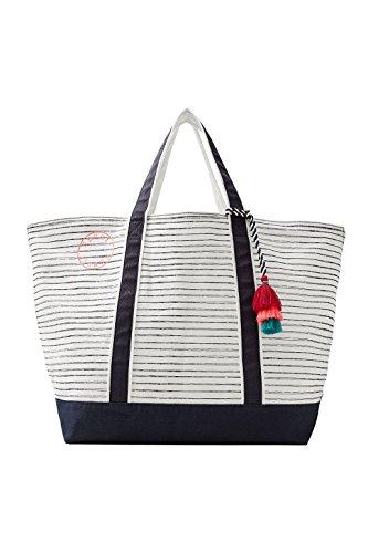 ESPRIT Damen Strandtasche blau Einheitsgröße