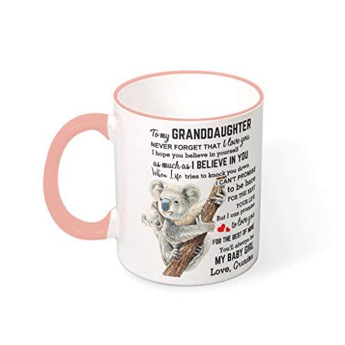 DAMKELLY Store Taza de café con asa, de porcelana con diseño de koala, 330 ml