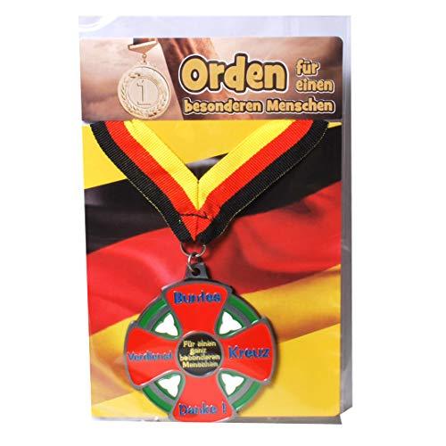 Udo Schmidt GmbH & Co Geburtstags Orden Buntes Verdienstkreuz Geburtstags Geschenk Scherzartikel LUSTIG Gag
