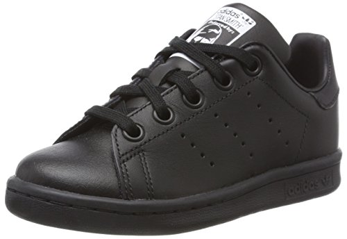 adidas - Stan Smith - Chaussures - Mixte Enfant - Noir (Black/Black/Footwear White 0) - 37 1/3 EU