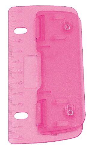 Wedo 67809 2fach Taschenlocher (Kunststoff zum Abheften für 8 cm Lochung, mit 12 cm Skala) pink