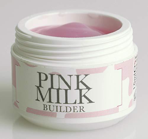 Beauty Space Nails Pink Milk Builder Sculpting Gel Costruttore Tissotropico con Fibre di Vetro Rosa Latte - 15 Ml