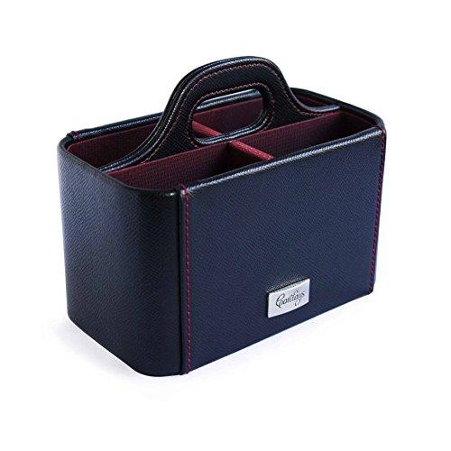 CORDAYS - Organizador de Mandos a Distancia y Material de Oficina o Herramientas de Trabajo Caja para Mandos a Distancia - Hecho a Mano- Color Negro CDM-00030