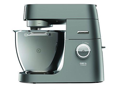 Kenwood Chef XL Titanium KVL8300S Küchenmaschine, 1.700 W, 6,7 l Füllmenge, 5-teiliges Patisserie-Set System Pro, Rührschüssel-Innenbeleuchtung