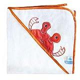 Doudou et Compagnie DC3662 - Capa de baño para bebé (80 x 80 cm), diseño de cangrejo