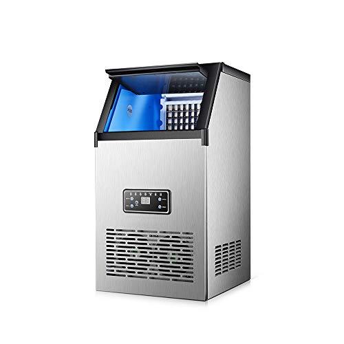 IJsmachine commerciële automatische intelligente waterkoelaar ijsmachine 10 minuten ijsblokjes instelbare dikte vaten dual gebruik 60 kg per dag geschikt voor bar theestube restaurant 40kg(Tapwater)