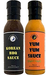 Premium   Sauce Variety 2 Pack   Korean BBQ Sauce   Yum Yum Sauce   Low Cholesterol   Crafted in Small Batches with Farm Fresh Herbs for Premium Flavor and Zest