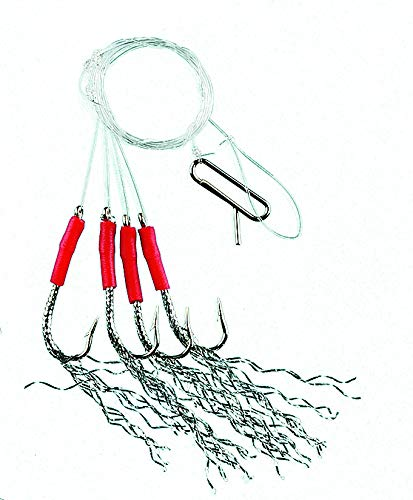 FLADEN Fishing - 12 (2 x 6 Styles) Assorted Classic Ready to Use Tied Boat Sea and Shore Feather Lure Rig Range for Cod Herring and Mackerel on a Backing Card [17-ASST01]