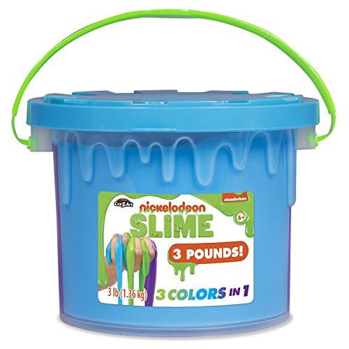 Nickelodeon Slime Tri Color 48 oz Tub, Multicolor