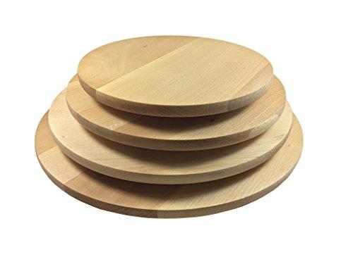 Sendez Drehteller Pizzateller 4 Varianten drehbar Holzteller Drehplatte Buche Käseteller Made in EU (ø 30cm)