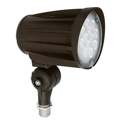 ASD 28W LED Bullet Flood Lights with Knuckle Mount, 5000K (Daylight) 3200lm IP65, Waterproof Outdoor Landscape, Black, UL& DLC Listed