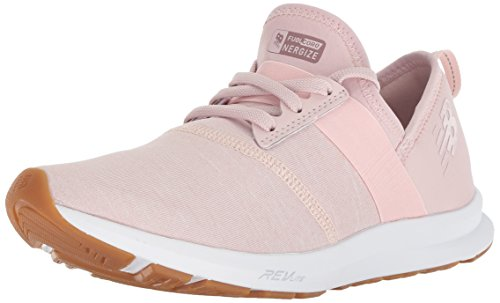 New Balance Women's FuelCore Nergize V1 Sneaker, Conch Shell/White/Heather, 8.5 M US