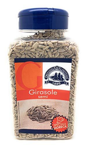 Girasole in Semi Essiccati - 420 g - Sapore Versatile che ricorda la Nocciola - Snack Veloce per Merenda - Impreziosiscono Insalate, Verdura, Zuppe, Pane e Grissini - Basso Contenuto di Sodio