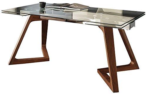 La Seggiola Tavolo allungabile in Cristallo - Grigna, 180 x 100 cm (260 Aperto) (Art. Gaudi')