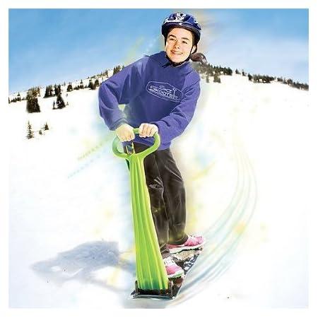 Kids Fold-Up Snow Scooter Snowboard Ski for Sledding Toboggan Winter FunRed