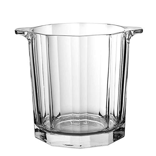 KEKOR Portaghiaccio Ice Bucket Cristallo Benna di Ghiaccio Ispessito Champagne Grande Benna della Famiglia Benna di Ghiaccio Creativo Bar Secchio, 13x15cm (Size : 1.6L)