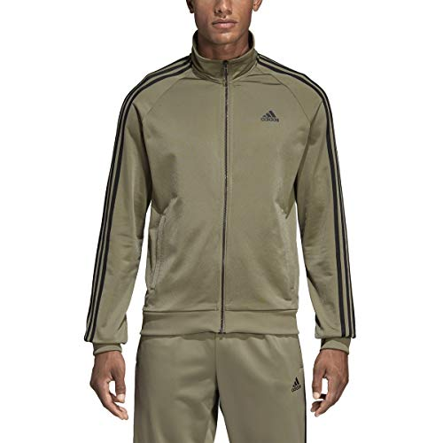 adidas Essentials 3S Tricot Track Jacket Men's All Sports XL Trace Cargo