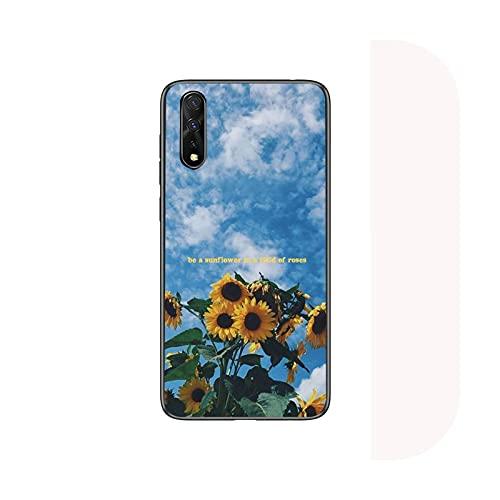 Lindo verano margarita girasol floral flor teléfono caso para Huawei P9 P10 P20 P30 P40 Lite 2017 pro SMART2019 cubierta fundas coque-a10-para Huawei P40 pro