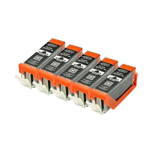 5 Druckerpatronen kompatibel für Canon PGI-550BK XL IP-7250 8750 IX-6850 MG-5450 5550 6350 6450 7150 MX-725 925