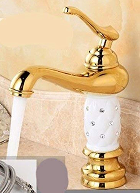 Oudan European style retro style copperhot and cold toilet Single Hole a raised Washbasin Faucet