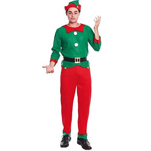 Partilandia Disfraz Elfo Duende Hombre Adulto para Navidad L