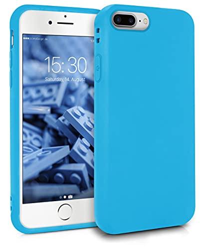 MyGadget Funda para Apple iPhone 7 Plus / 8 Plus en Silicona TPU - Carcasa Slim & Flexible - Case Resistente Antigolpes y Antichoques - Protectora Azul Claro