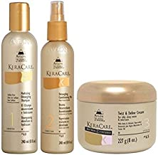Keracare Detangling Shampoo And Conditioner Duo With Natural Textures Twist And Define Cream (Pack of 4)