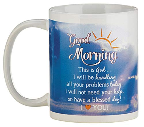 Religious Good Morning God Coffee Mug, 10 Ounce