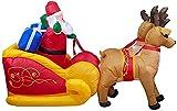 Decoraciones inflables para Exteriores de Navidad de 7,2 pies, iluminación LED de Papá Noel en Renos, Trineo, decoración de Patio al Aire Libre