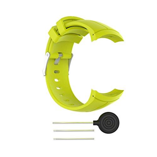 BAIRU Correa de repuesto de silicona para reloj inteligente Suu-nnto Spar-tan Ultra Sport