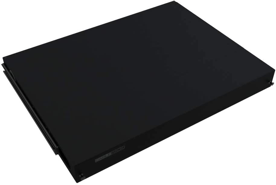 CableRack 1U Rack Mount Fiber Enclosure 24 Port Tray with Slots for LC ST SC or FC Couplers Black