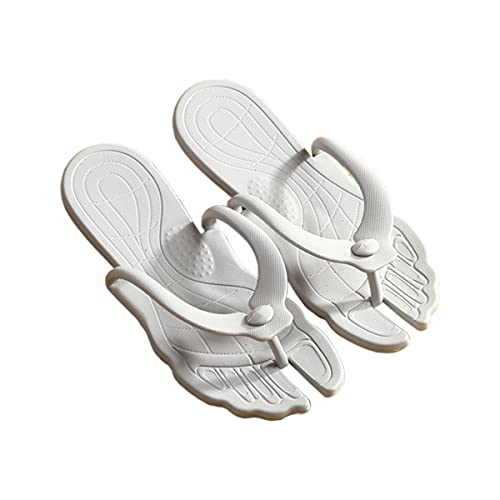 Men and Women Flip Flops, Beach Shower Sandals Bath Slippers, Ergonomic Portable Easy to Carry Collapsible Lightweight Soft Sole,Travel Accessories (Gray, S)