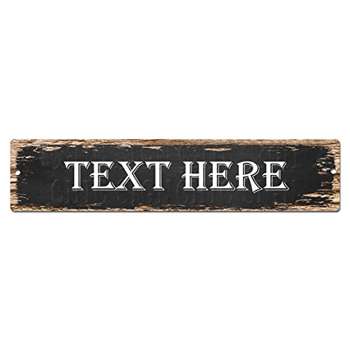 Any Text HERE Any Name Customize Personalize Man CAVE Street Sign Chic Rustic Street Plate Sign Bar Cafe Restaurant Shop Home Man cave Decor Gift Sign
