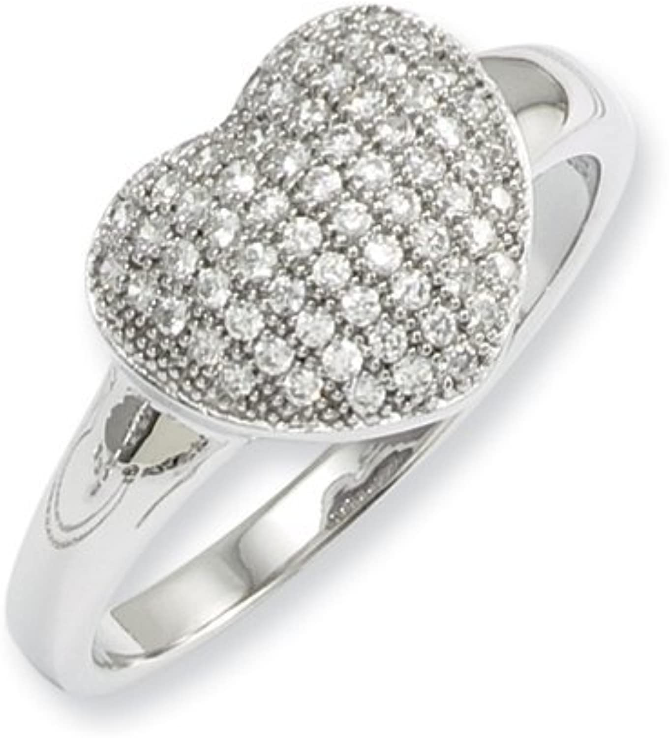 Brilliant Embers Sterling Silver & CZ Brilliant Embers Polished Heart Ring