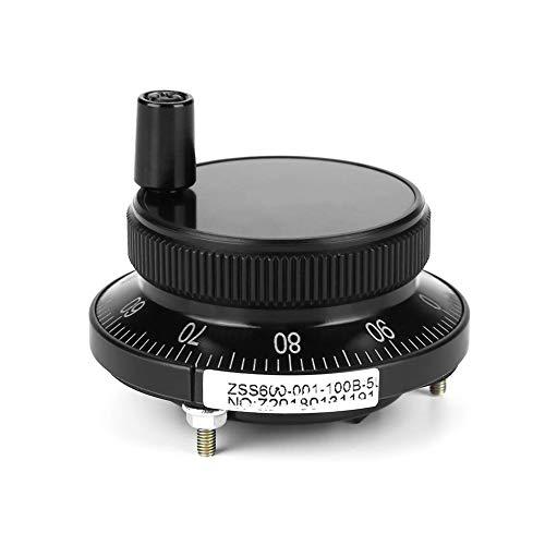 5 V 60mm 6 Terminal Handrad Impulsgeber CNC Pulser Handrad Mühle Router Manuelle Steuerung für CNC System Fräsmaschine Drehmaschine(Schwarz)