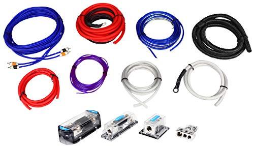Rockville RDA0+4K 0+4 Gauge Dual Amplifier Installation Multiple-Amp Wire Kit