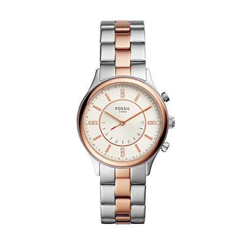 Fossil - Reloj híbrido de Acero Inoxidable para Mujer BQH3004