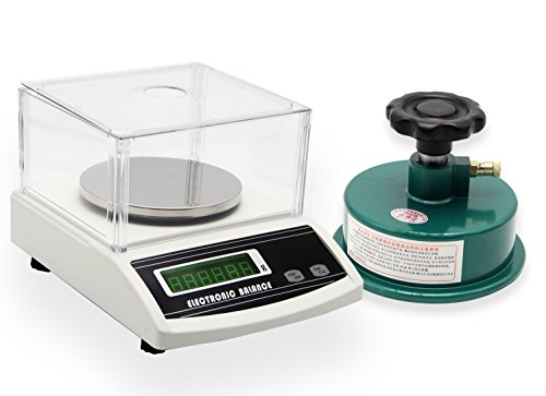 NEWTRY - Balanza analítica digital, balanza electrónica de precisión de sobremesa, instrumento de pesaje por metro cuadrado para tejido, con cortador de muestras de tela circulares