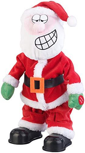 infactory Tanzender Weihnachtsmann: Singender und twerkender Weihnachtsmann, 30 cm (Weihnachtsmann twerkt)