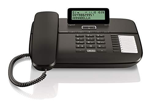 Gigaset DA710 Telefono Fisso, Vivavoce con Tasto Dedicato, Nero