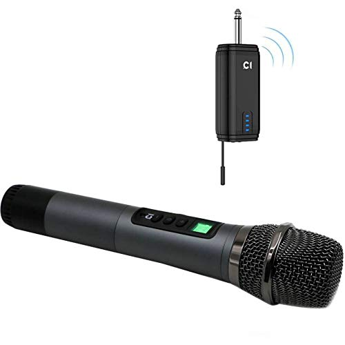 Wireless Handheld Microphone System 200 FT, Professional Cordless Dynamic Mic with 6.35mm(1/4
