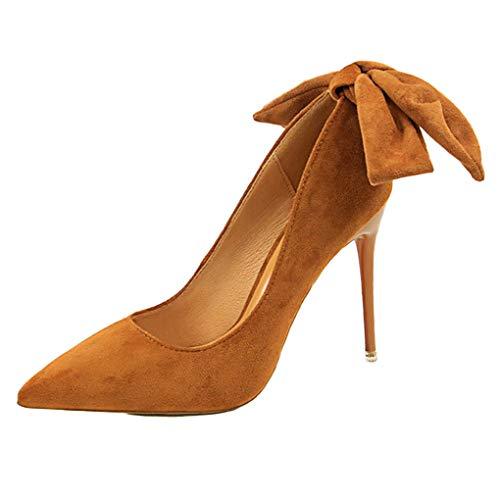 Minetom Women's Extreme High Fashion Peep Toe Pumps Handmade for Wedding Party Dress Stiletto Slip On Shoes Khaki 34 EU