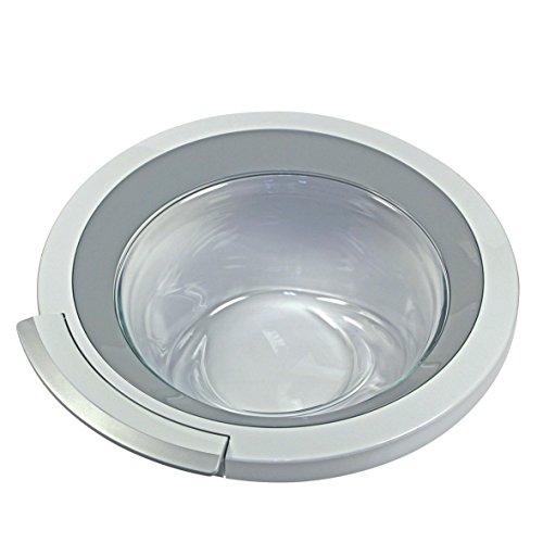 Tür komplett Ring Bullauge weiß silber Glas Kunststoff Waschmaschine Frontlader Original Bosch Siemens 00704286 passend Balay VarioPerfect EcoSilence ts84 was30 was32 was28 cm12 cm10 wm12 wm14 wm16 wm