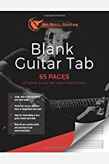 Blank Guitar Tab: 65 Pages of Blank Guitar Tab with Chord Boxes (No Bull Guitar) Paperback