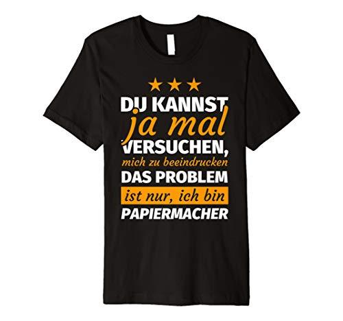 Herren Papiermacher Geschenk lustiger Spruch T-Shirt