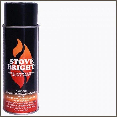 Stove Bright TI-8137 Medium Temperature Paint, 450 to 700 Degree F Operating Temperature Range, 12 oz Aerosol, Clear