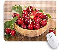 ZOMOY マウスパッド 個性的 おしゃれ 柔軟 かわいい ゴム製裏面 ゲーミングマウスパッド PC ノートパソコン オフィス用 デスクマット 滑り止め 耐久性が良い おもしろいパターン (果物と野菜の食器チェリービューティー)