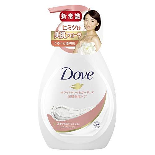 Dove(ダヴ) ボディウォッシュ ボディソープ ホワイトクレイ&ガーデニア 480g ボディーソープ 心地よくやさしいホワイトクレイとガーデニアの香り(香料配合)。