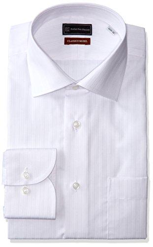 (ピーエスエフエー)P.S.FA クラシコモデル 形態安定 長袖 セミワイドカラーワイシャツ M151180069 01 ホワイト L84(首回り41cm×裄丈84cm)