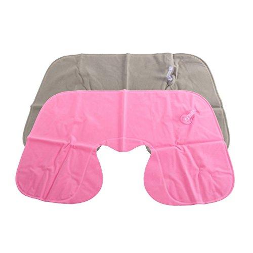 YKSO Velveteen (exterior) / PP ligero 1 unids portátil inflable en forma de U almohada para el cuello del coche, viaje, cómodo, reposacabezas de coche, viaje, viaje, suave cojín de enfermería